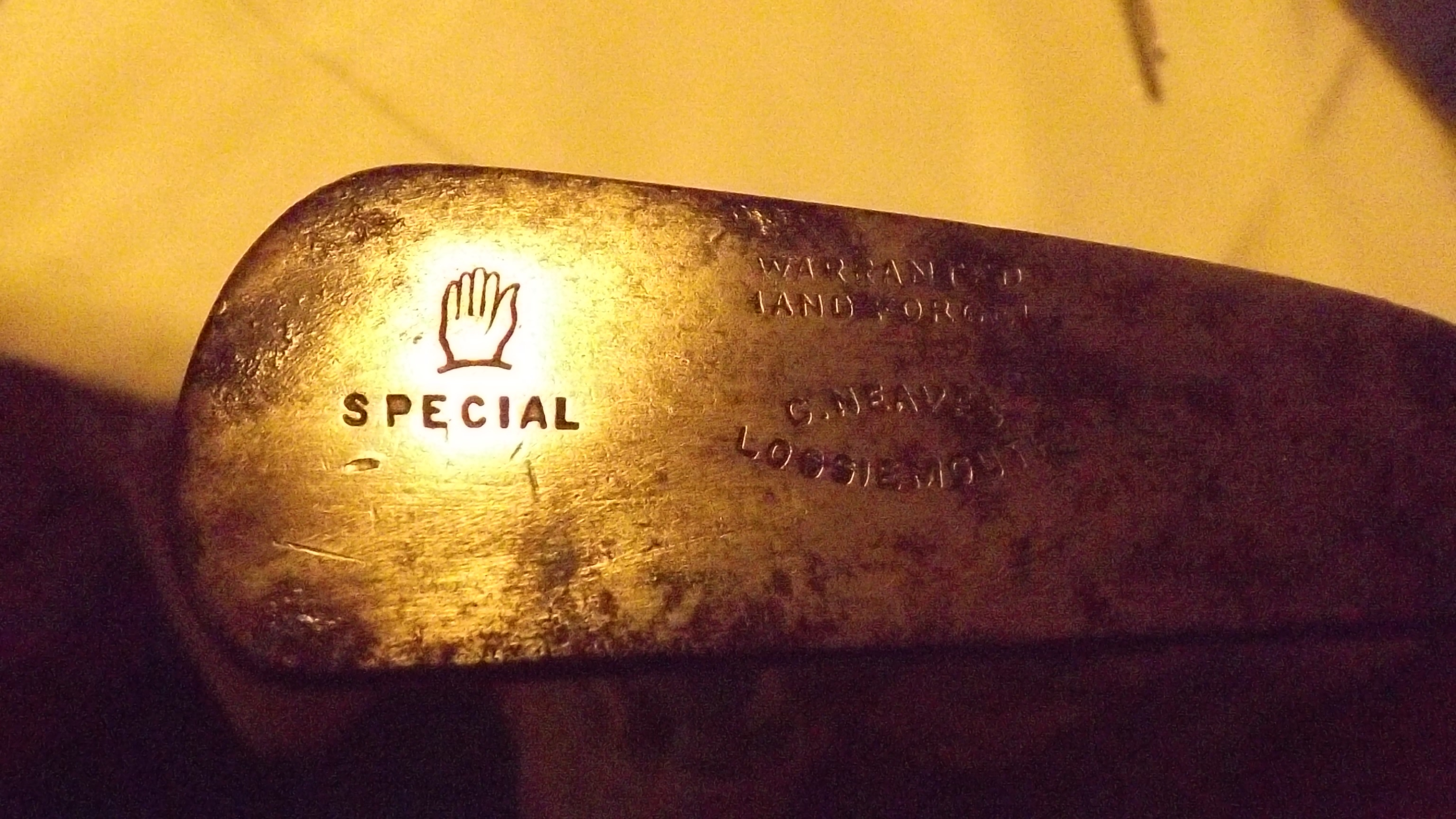 Vintage George Nicoll Blade Putter Georgous Ball Marked Face